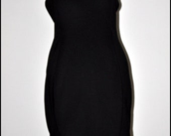 A lace and knit black dress hande made by MiculaDesing