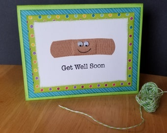 Get Well Soon band-aid