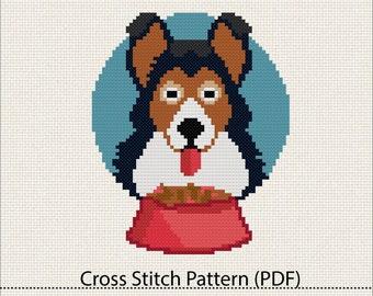 Dog cross stitch pattern,PDF pattern download #27