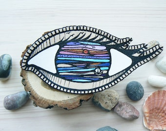 Cool Eye patches Eyeball patch Grunge patch Iron on patch Backpack patch Punk patch Embroidered Patch Denim jacket patches Gothic patch