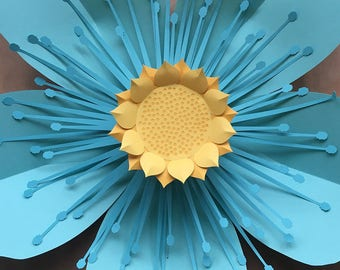 Wallflower 01, Paper Flower Template for Cricut and Silhouette (SVG, DXF)