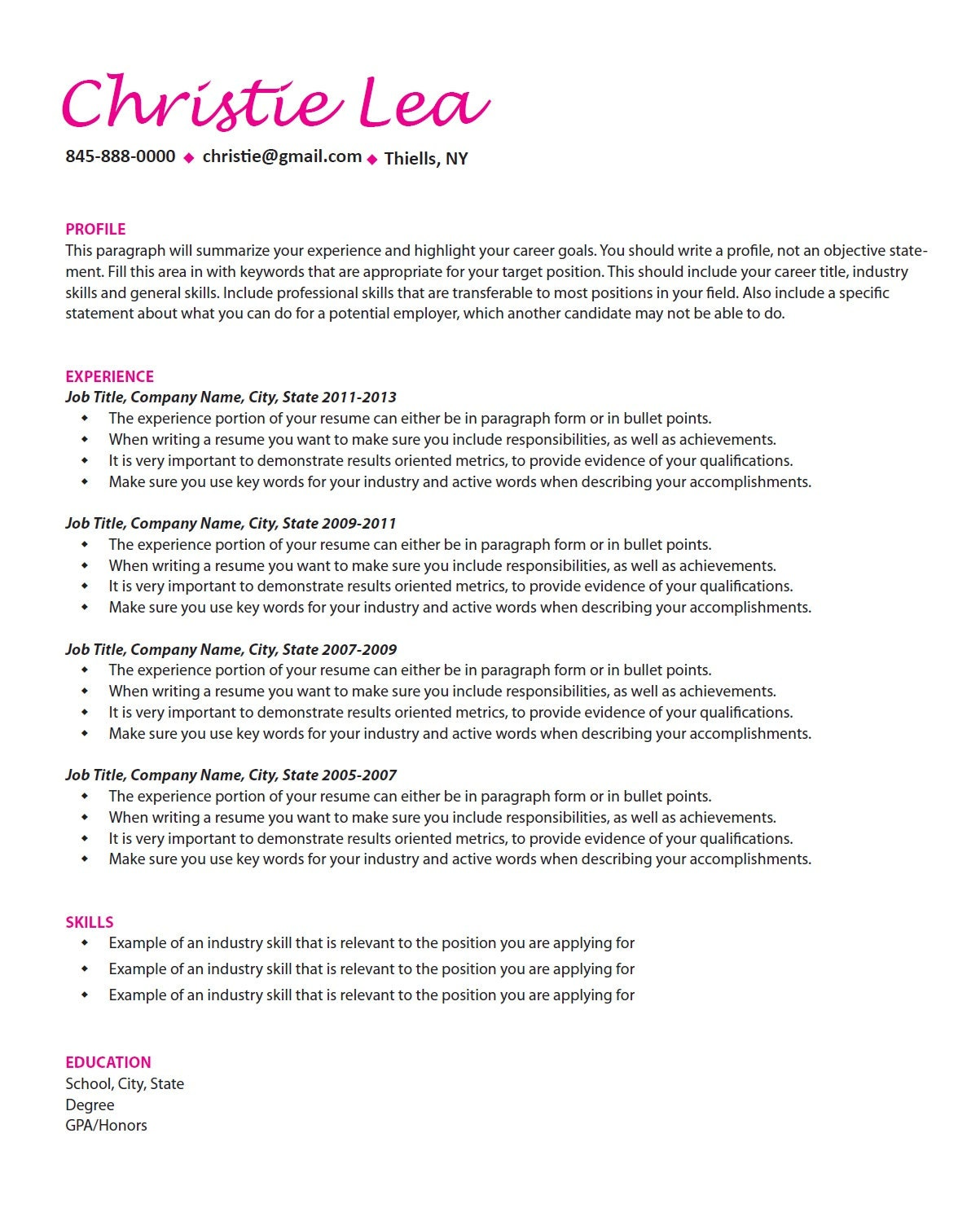 Professional Resume Writing Resume Help Job Search