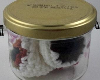 Jar of Crocheted Eyeballs in Browns (SWG-EY001)
