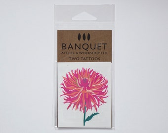 Tattoo: Pink Dahlia - pack of Two temporary tattoos