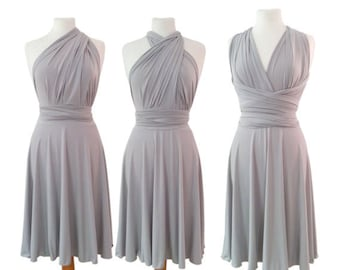 Maternity Infinity Dress  in middle gray color  Bridesmaid  dress with matching tube top