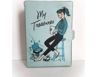 Vintage My Treasures Sky Blue Vinyl Box Deb U Teen PonyTail Pony Tail