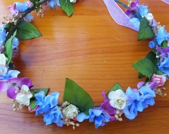 Multicolor flower crown