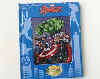 Avengers Enamelled 3D Notebook handmade from a Marvel book