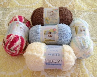 Bernat Pipsqueak Yarn ~ CHOOSE ONE: Vanilla, Neapolitan, Chocolate, Baby Blue, Baby Baby Print