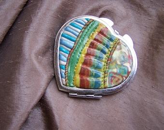 heart shaped purse mirror