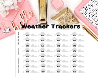 Weather Trackers//EC//Hp classic, large and mini//planning stickers//