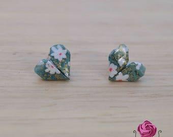 Hearts earrings,japanese earrings, red earrings, gift for woman,blue earrings, multicolor earrings,black earrings, elegant earrings