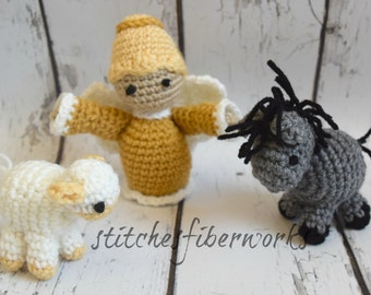 Amigurumi Nativity Español : Crochet nativity set etsy