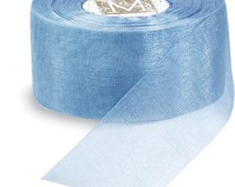 "Midori Organdy Ribbon 3/4"" Color Blue"