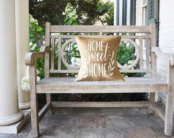 Home Sweet Home Burlap Pillow