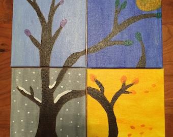 Four Seasons Mini Paintings