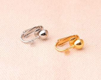 12pcs (6pairs) Clip on  earring converter Gold And Silver Color Earring Clip non pierced ears change pierced over to clip