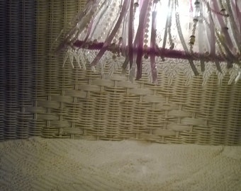 vintage over the headboard lamp with remade shade
