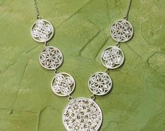 Byzantine Gifts of Glory Necklace | Byzantine Necklace Byzantine Jewelry Statement Necklace Historical Filigree Handcrafted