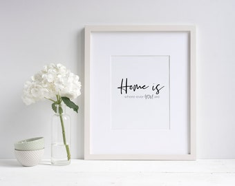 Home is where ever you are Wall Print
