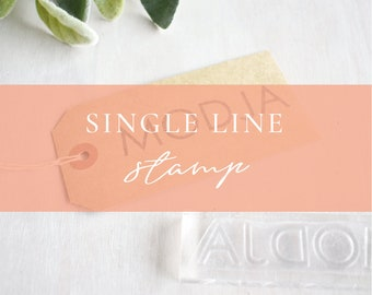 Custom Single Line Stamp | Custom Logo Stamp - Handmade Business Stamp - Website Stamp - Personalised Stamp