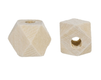 Square wooden beads