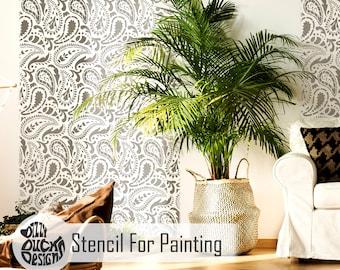 TAJ MAHAL STENCIL - Indian Furniture Craft Wall Stencil Paisley Stencil for Painting - TAJM01