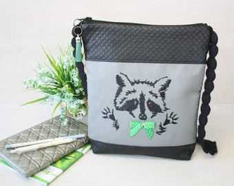 Inspirational kids gift Raccoon bag Vegan bag for women Woodland animal gift Forest animal gift Raccoon gifts Birthday gift for her