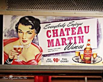 Subway Photography, Vintage Sign, Wine Art , New York, NYC Subway, Home Bar Decor, Retro Wine Art, Kitchen Photography, Dorm Decor, Fashion