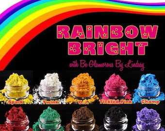 Mineral Eyeshadow Rainbow Bright Collection