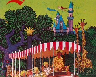Vintage United Airlines Disneyland Poster A3 / A2 Print