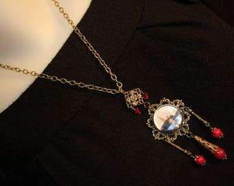 """Orientalist """"On the water Temple"""" pendant necklace"""