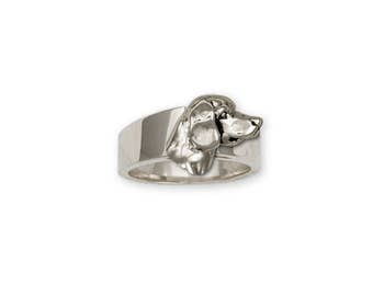 Beagle Ring Jewelry Sterling Silver Handmade Dog Ring CH36-R
