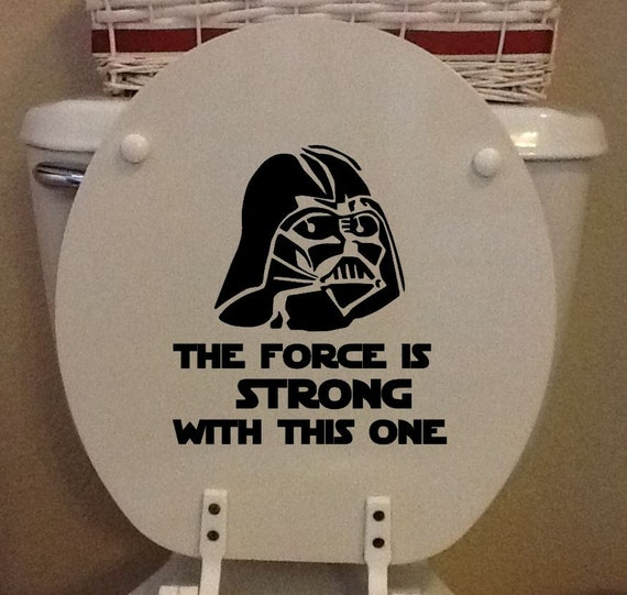 Star Wars Toilet Seat Vinyl Darth Vader The Force Is