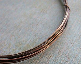 Antiqued 26 gauge Copper Dead Soft Wire - 10 feet