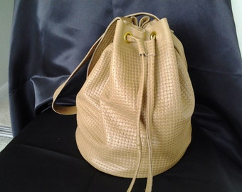 Tan leather bucket bag brown leather bucket bag BBsCustomClutches leather bucket bag basket weave bucket bag brown bucket bag