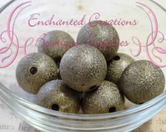 20mm Brown Stardust Acylic Beads Qty 10
