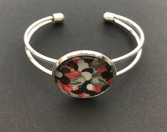 Cabochons glass 25mm adjustable Bangle Bracelet