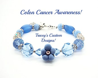 Stunning COLON CANCER AWARENESS Bracelet