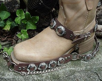 Western Boots BOOT CHAINS (The Concho Honcho) BROWN