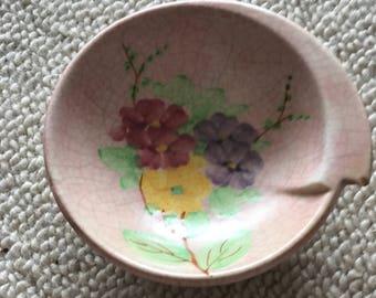 Vintage Pink Trinket Floral Dish