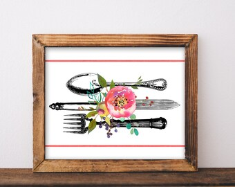 Dining Room Wall Art Printable Decor Printables