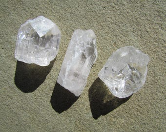 3 Danburite Crystals from Mexico - Clear Gem Danburite Rough Raw Crystals Rocks Minerals and Healing Stones
