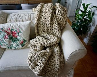 Cozy Chunky Wool-Blend Blanket