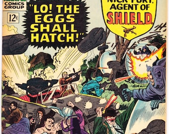 Strange Tales 145 comic. Doctor, Nick Fury, Agents of Shield, Mystic book, Silver Age, Ditko art. 1966 Marvel Comics VF (8.0)