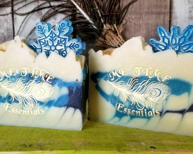 Christmas Snow Flakes Soap