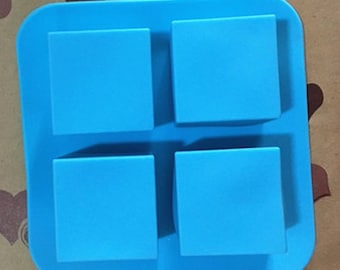 4-hole Cake Mold Square Mold Silicone Mold Soap Mold DIY Soap Mold Baking Mold