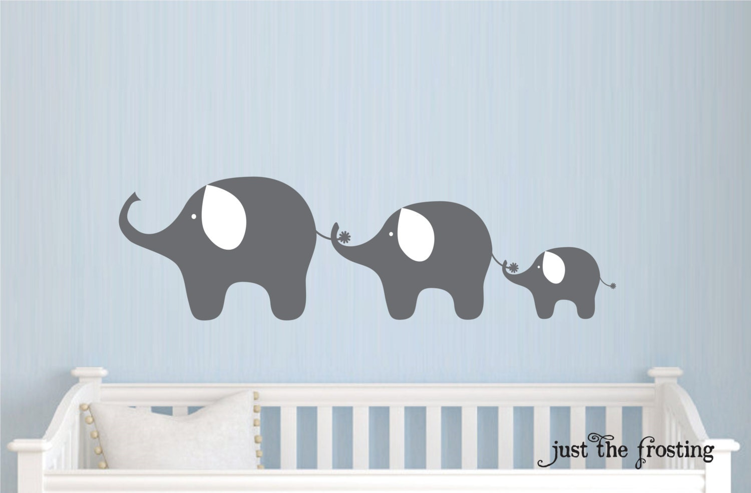 Family Elephant Decal Nursery Elephant Wall Decal Baby Boy
