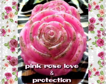 Pink Rose Love & Protection Soap