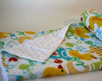 Ultra Soft Baby Blanket - Its a Boy  - WITH CUSTOM LETTER